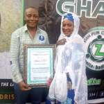 Hajiya Mariam Sissy ;Deputy Director of Communication Hajj Board Receives Award