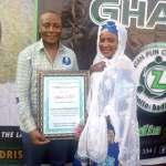 Hajiya Mariam Sissy ;Deputy Director of Communication Hajj Board Receives Award