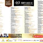 Forty Under 40 Awards Slated For 29th September