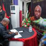 John Mahama  signs book of condolence for KABA