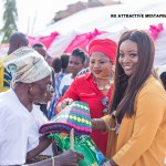 Jackie Appiah donates to widows on her birthday (Pictures + Video)