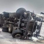 Leaking gas from a fallen tanker causes fear and panic