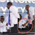 Akufo-Addo snubs Ntim, responds well to Blay's handshake