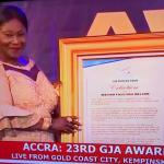 Madam Faustina Nelson honored as Companion of GJA and Friend of Press Freedom