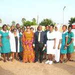 LORDINA MAHAMA APPLAUDS HEALTH WORKERS IN THE COUNTRY