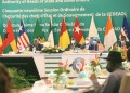 President Akufo-Addo (left), addressing the ECOWAS Summit in Accra