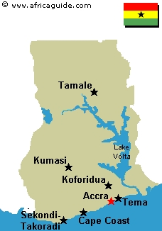 Ghana Landkarte
