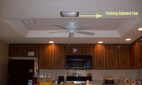 kitchen ventilation ceiling exhaust