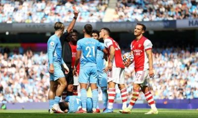 Arsenal Carry PL Table After Losing 5-0 To Man City - Match Report