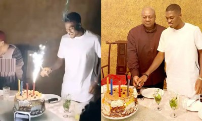 John Mahama's Son, Sharaf Celebrates 24th Birthday With Family Dinner; Gets Mom Excited In Video