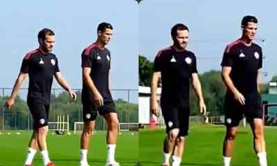 Massive Jubilation As Cristiano Ronaldo Spotted At Man United's Training Ahead Of Newcastle Game (Watch)