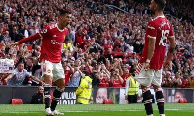 Cristiano Ronaldo Scores Double On Old Trafford Return As Man United Go On Top Of The Table