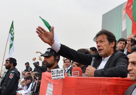 Pakistan's Prime Minister Imran Khan. (A Majeed / AFP)