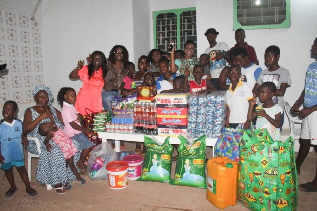 christabel ekeh donates to orphanage