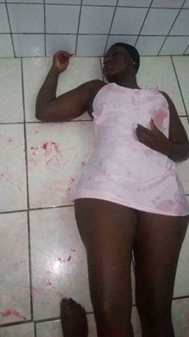 The girl on the floor after the suicide attempt failed