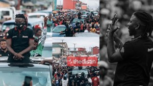 "Stonebwoy Receives A ""presidential Welcome"" As He Visits Ashaiman 