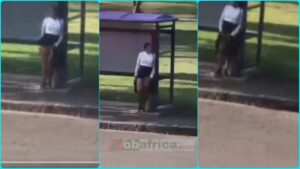 See This Lady Showing Her 'T0nga' to Drivers To Get a Free Ride At The Bus Stop(+Video)