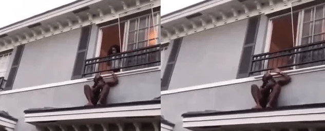 Man Hiding On Roof Top After The Married Woman He Was Ch£Ating With's Husband Returned Home - Video