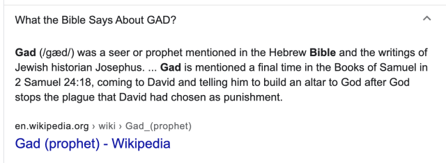 Meaning of Gad