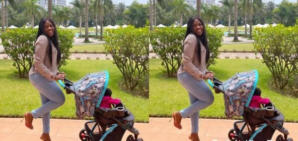 Fella Makafui Finally Shows Off The Face Of Her Daughter ''Island Frimpong''