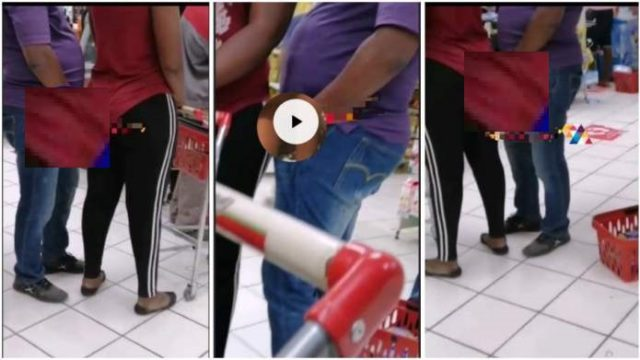 Man caught on camera using black magic to have s.£.x with a woman in a shop [Watch]