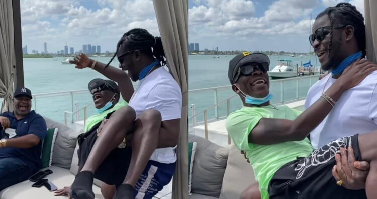 Jupitar Shares A Video With Shatta Wale In Miami Chilling Together (Watch Video)