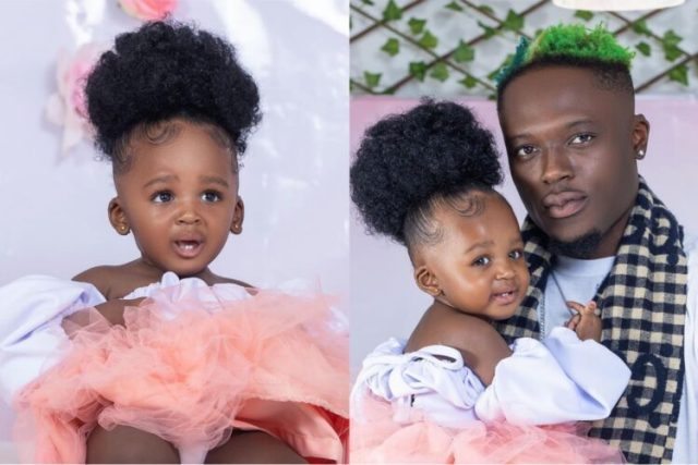 Okese1 Shows His Lovely Daughter for the first time As He Celebrates Her Birthday  - Photos