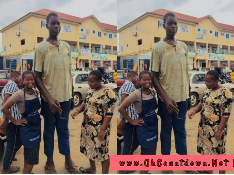 Meet The Tallest Man In Ghana With The Size Of His Shoe