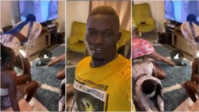 Alleged Sakawa Boy Shares Video Of Over Four Slay Queens Entertaining And Warming His Bed In His House