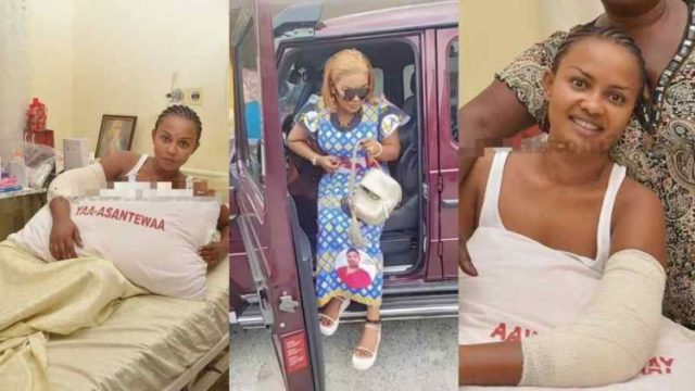 Nana Ama McBrown finally returns to Ghana after surgery in Germany (Watch Video)