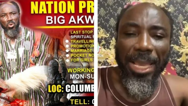 Big Akwes Takes Nana Agradaa Position, See Photo Of Him Being A Chief Priest