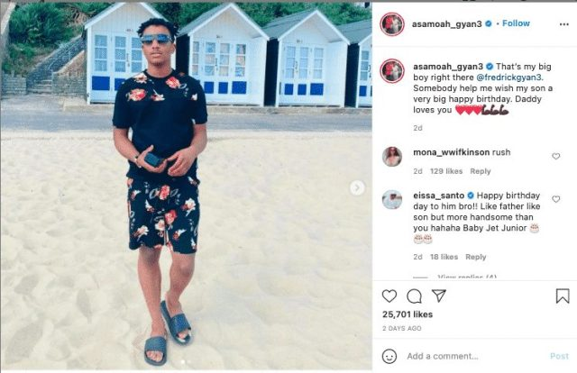 Asamoah Gyan's Birthday Message To His Son Goes Wrong