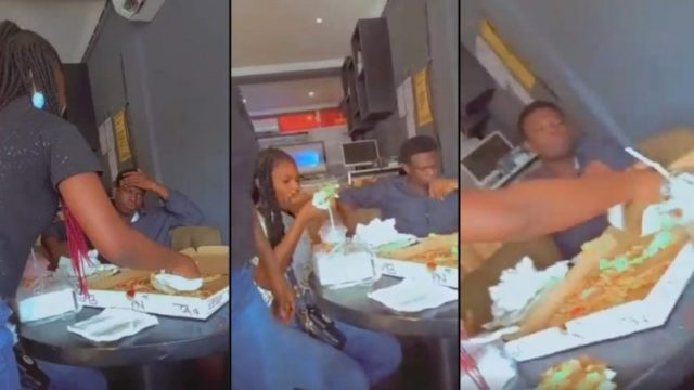 Yawa: See The Face Of This Guy After A lady She invited For Date Came With Her Friends To Eat pizza & increase His Bills To Almost GHC 5,000 [Watch Video]
