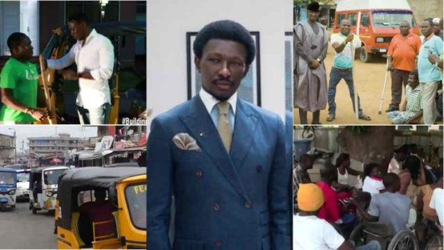 Nana Cheddar Transformed One Leg man To CEO; buys him 1st tricycle, he now employs others (Watch Video)