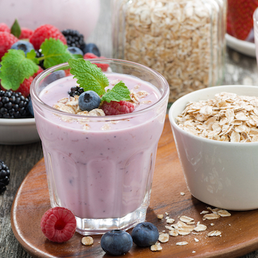 Smoothie and Oatmeal
