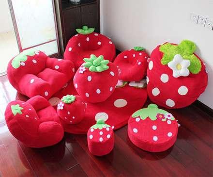 Bộ ghế lười Salon quả dâu tây