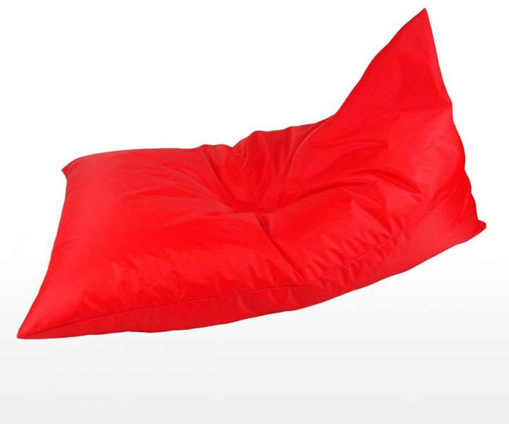 Ghế lười hình kim tự tháp màu đỏ