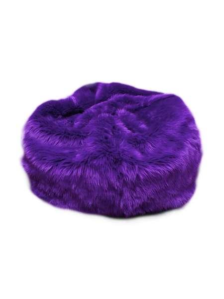 Ghế lười lông thú màu tím