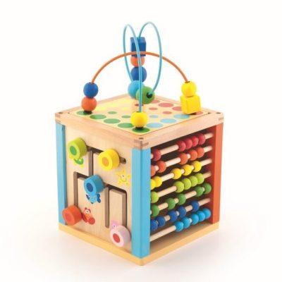 Cub multifuncțional educativ din lemn -Trefl
