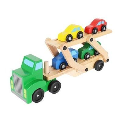 Camion transportator din lemn