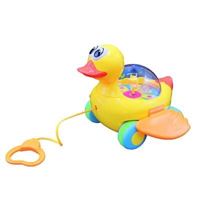 Jucărie bebeluși cu sfoară Rățușca Buclucașă