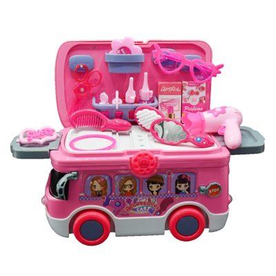 Mașinuța studio de înfrumusețare pentru fetițe