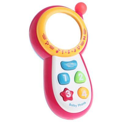 Jucărie telefon muzical bebeluși Happy Kid cu oglindă