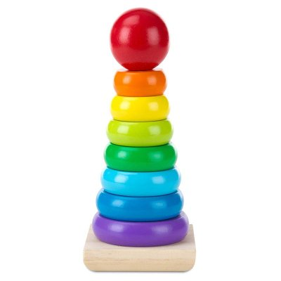 Jucărie Montessori din lemn turn cu inele Melissa & Doug