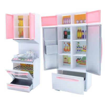 Mini bucătărie de jucărie modernă cu accesorii incluse
