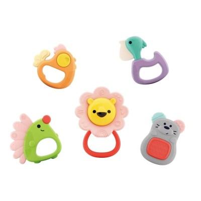 Set 5 jucării pentru dentiție Forest Baby