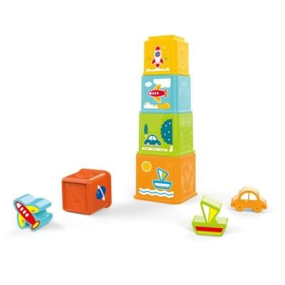 Set cuburi bebeluși pentru stivuit 8 piese