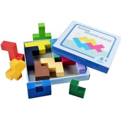 Joc de logică din lemn Tetris Wisdom
