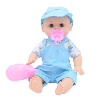 Păpușă bebeluș băiețel cu accesorii incluse