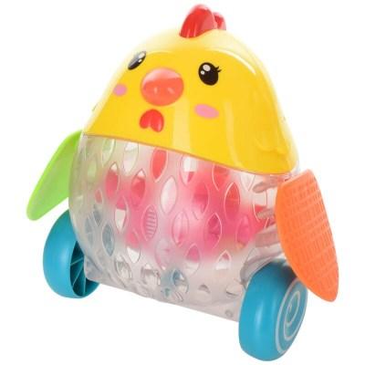 jucărie de împins puișor cu lumini